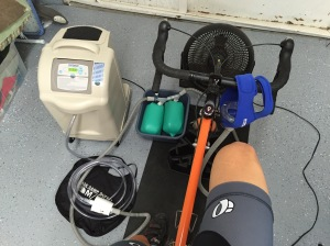 Hypoxico altitiude equipment. A twist on my 100 race-prep.