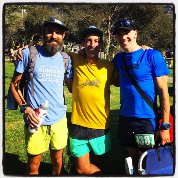 ITR's Mt. Tam 30k with the Bearded Gull, Travis Weller, and Alex Varner (pre-Quad Dipsea CR fame)