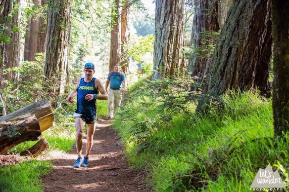 Final bloody miles of Mt. Tam 50k. Photo Credit: Let's Wander Photography