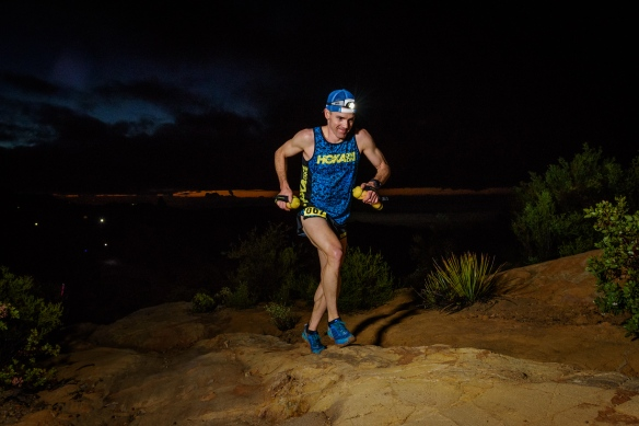Pre-dawn running on one of my favorite parts of the course. Photo Credit: Howie Stern